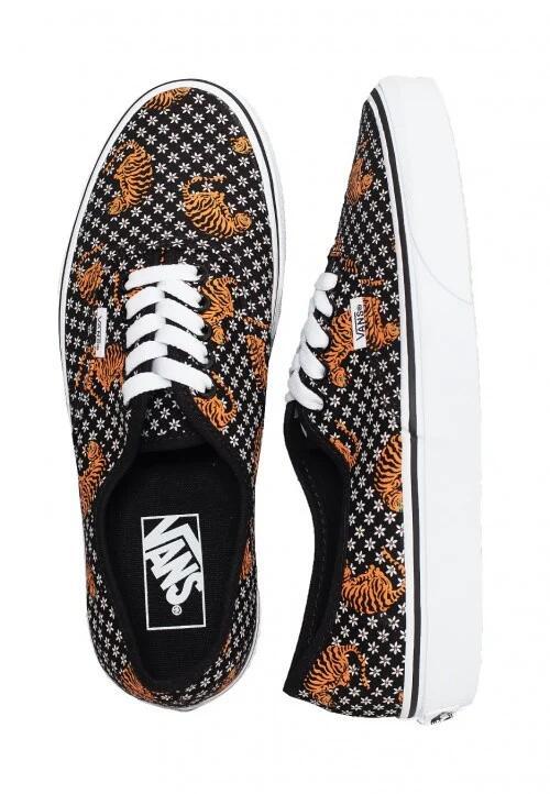 Vans Authentic (Tiger Floral) Blk/Tr Wht - Damen Sneakers (Gr. 36-41)