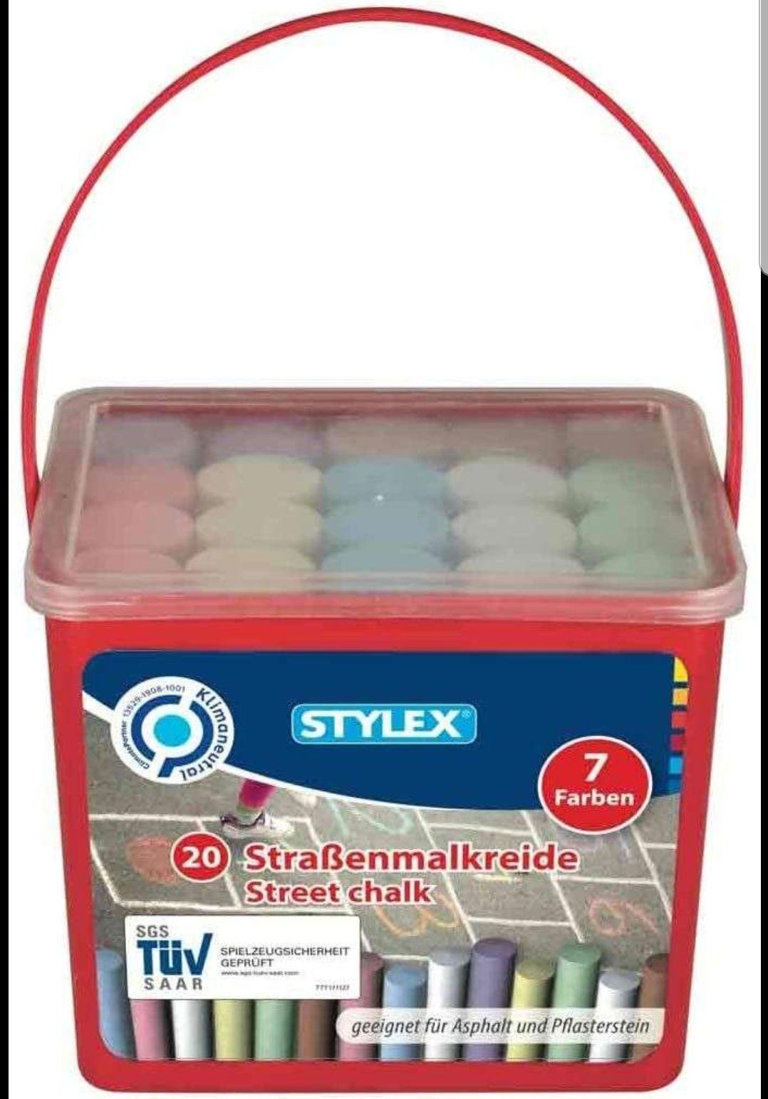 Stylex Straßenkreide, 20 Stück in 7 verschiedenen Farben, Aldi Süd Neuhofen (lokal)