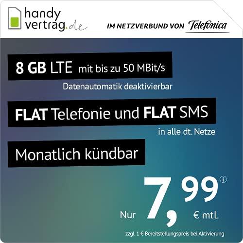 Amazon: Drillisch 8GB Allnet für 7,99€/M (monatlich kündbar) + 6€ AG im Telefonica Netz