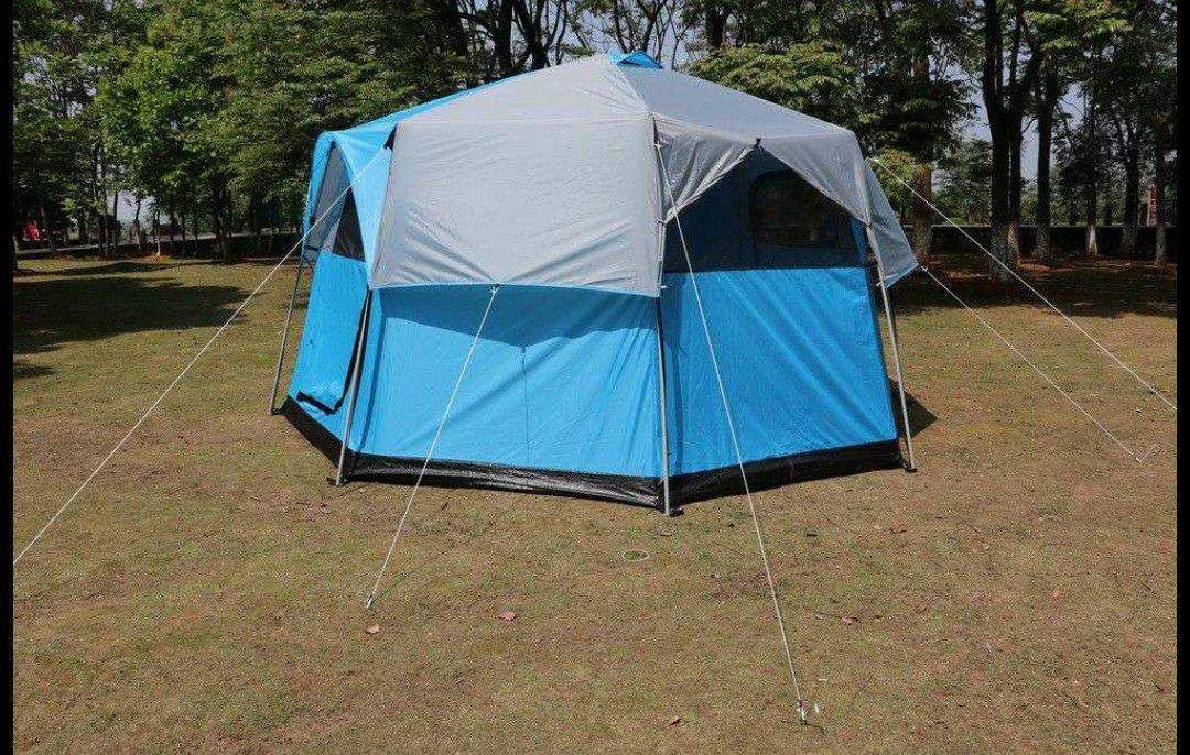 CHILLROI Oktagon Zelt für 6-8 Personen inkl. Trolleytasche mit 2 Rollen