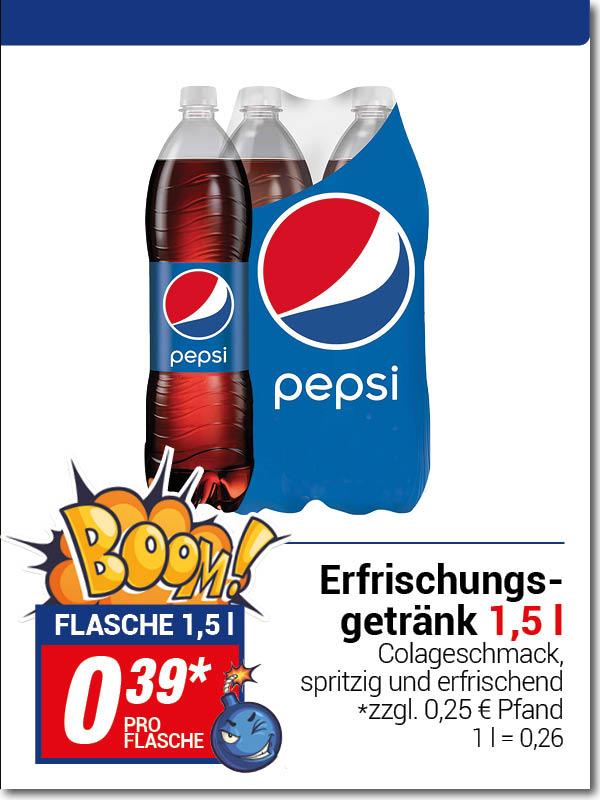 (Lokal) Centershop - PEPSI- 1,5 Liter 0,39 € - Literpreis 0,26 €