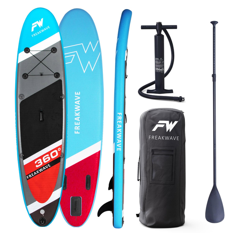 FREAKWAVE SUP Board 360 (inklusive Paddel, Pumpe, Transportrucksack und Reparaturset)