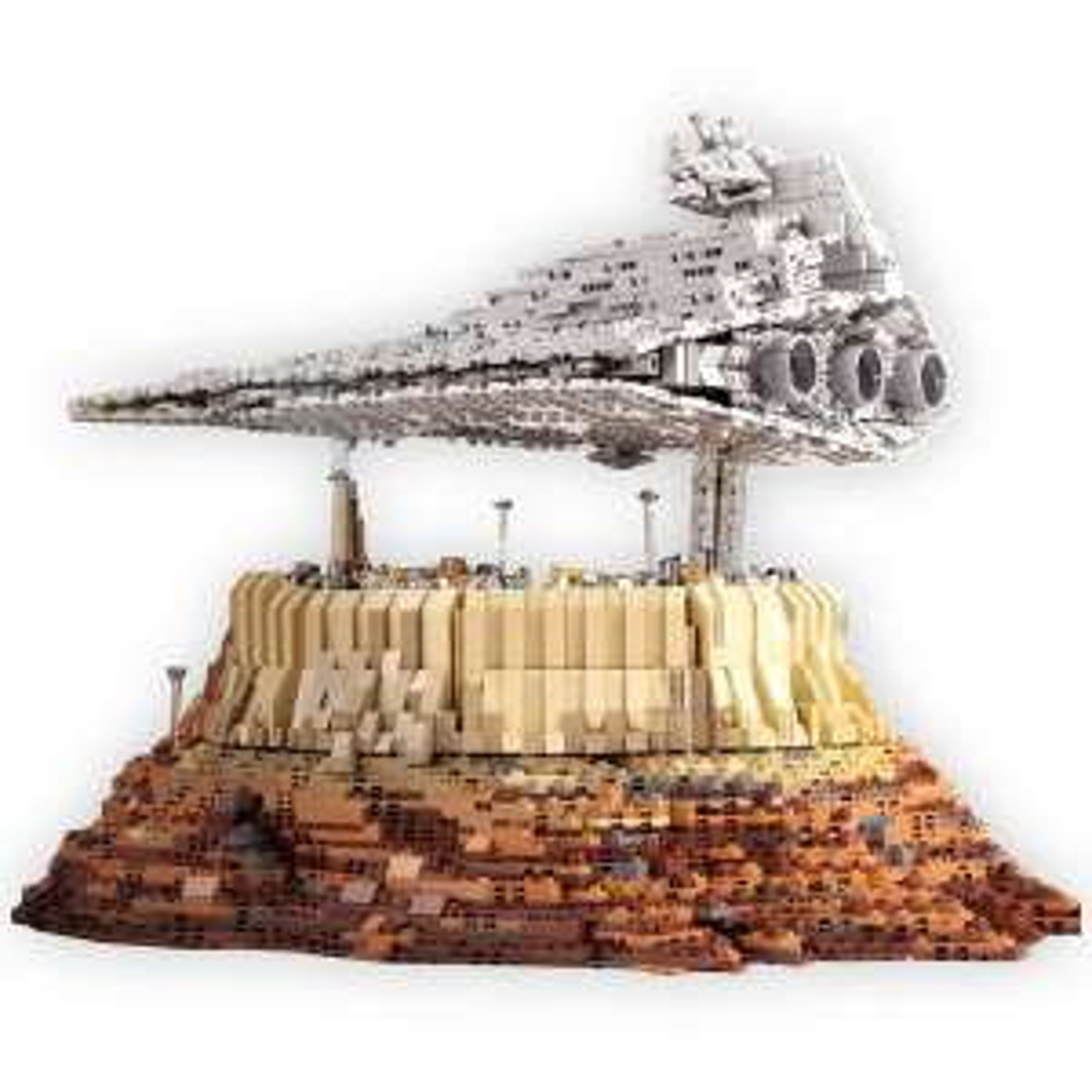 Mould King: Empire Over Jedha City - Klemmbaustein Sternenzerstörer aus Europa (5162 Teile, Zwillings-Ionenantrieb, Star Wars)