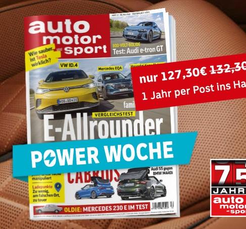 27 Ausgaben Auto Motor und Sport für 127,30€ + 110€ Bestchoice Universalgutschein