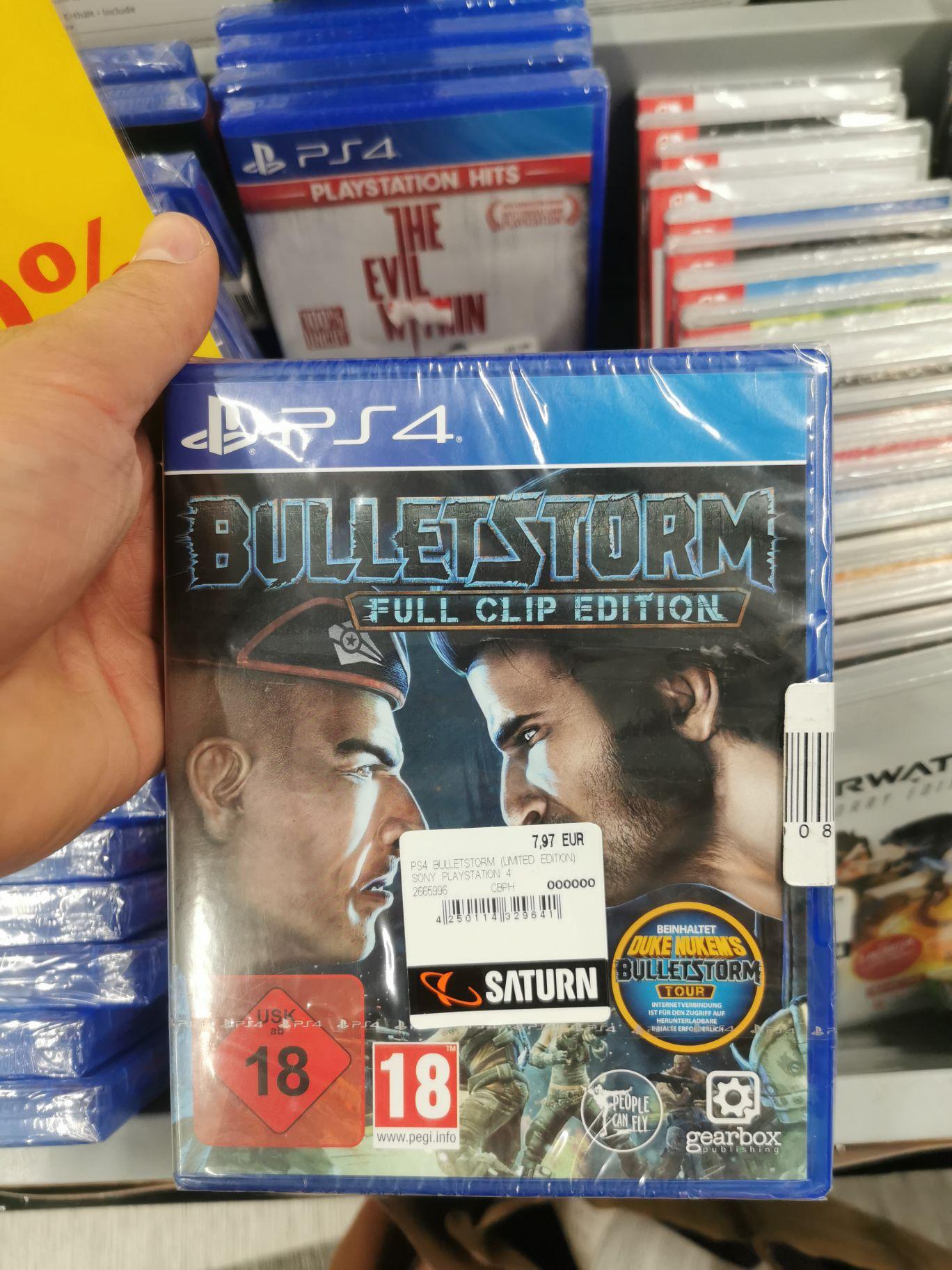 [Saturn Oldenburg] Nintendo Switch Doom 29,97€, Bulletstorm PS4 7,97€...
