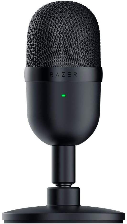 Razer Seiren Mini - USB Kondensator-Mikrofon (Supernieren-Richtcharakteristik, neigbarer Ständer, Integrierter Schockdämpfer) Schwarz