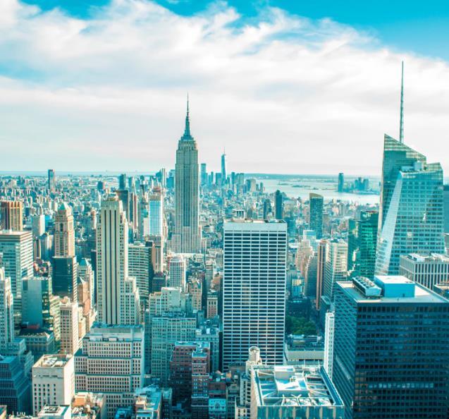 Flüge: New York / USA (bis Mai 2022) Hin- und Rückflug mit Oneworld von Hamburg, Berlin, Stuttgart, Frankfurt, München, (...) ab 264€