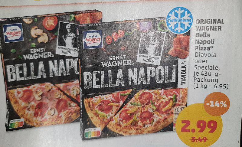[PENNY] Wagner Bella Napoli Pizza mit Cashback 0,99€