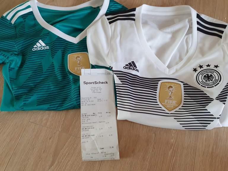 3x adidas DFB Deutschland Heim- und Auswärtstrikot WM 2018 Damengröße XS bis M SportScheck outlet Dresden für 13,98