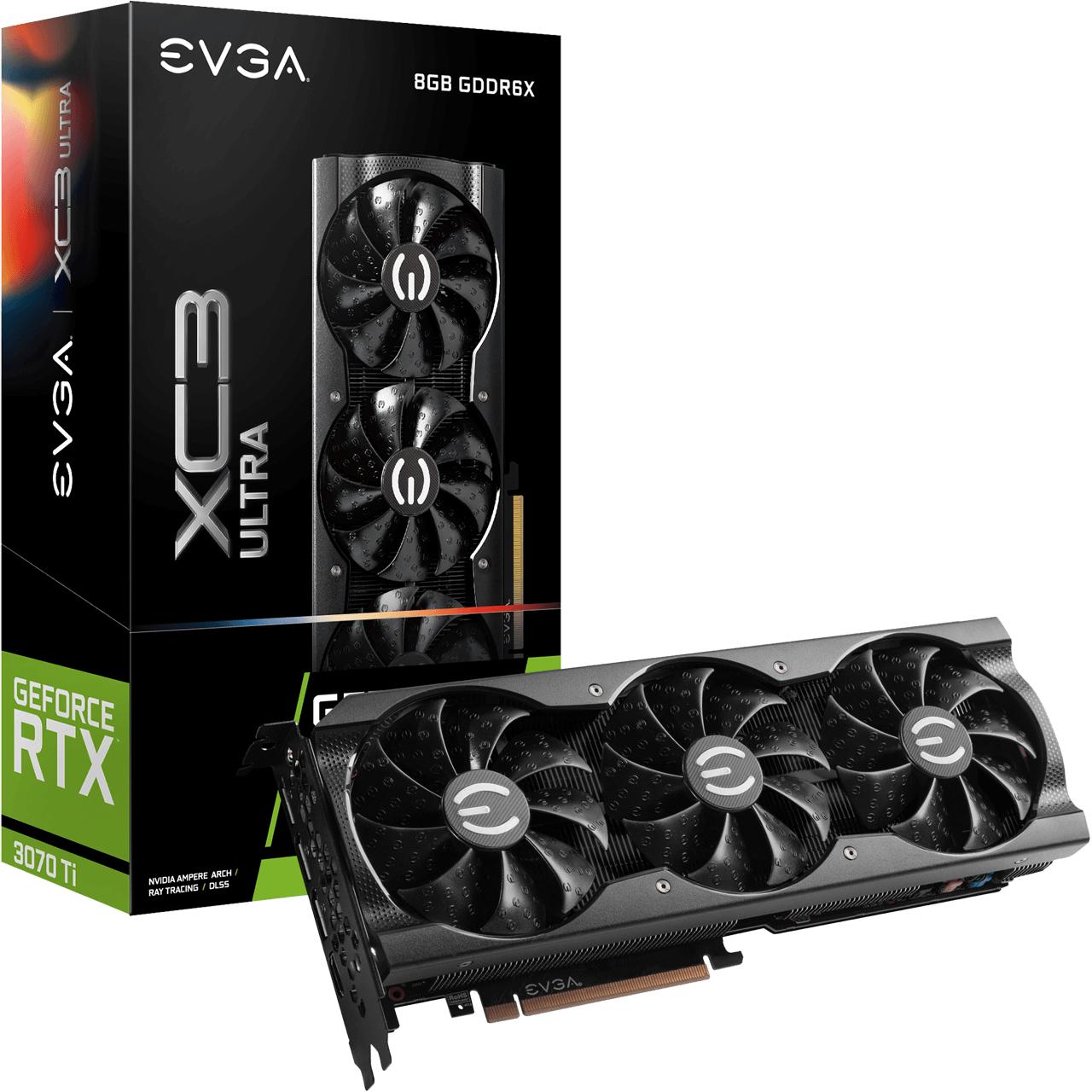 EVGA GeForce RTX3070 Ti XC3 Ultra 8 GB GDDR6X Retail