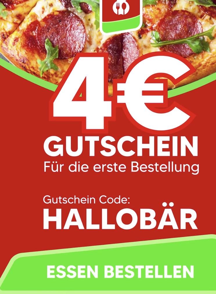 [Lokal Karlsruhe] Lieferbär 4€ auf die erste Bestellung