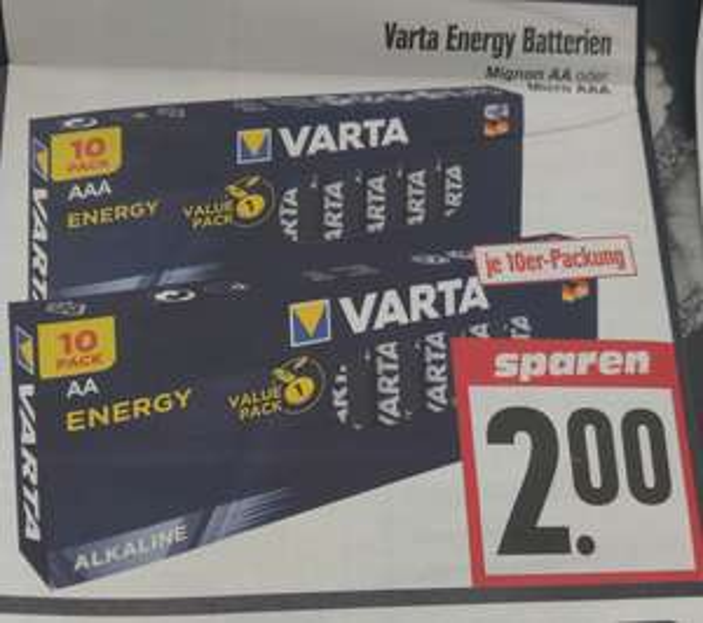 [Edeka/Hessenring] Varta Energy Batterien AA oder AAA 10er Pack für jeweils 2,-€ ab 28.06.2021