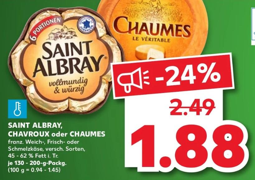 [Kaufland] Wurde verlängert ! Saint Albray - 1,18€ durch Cashback