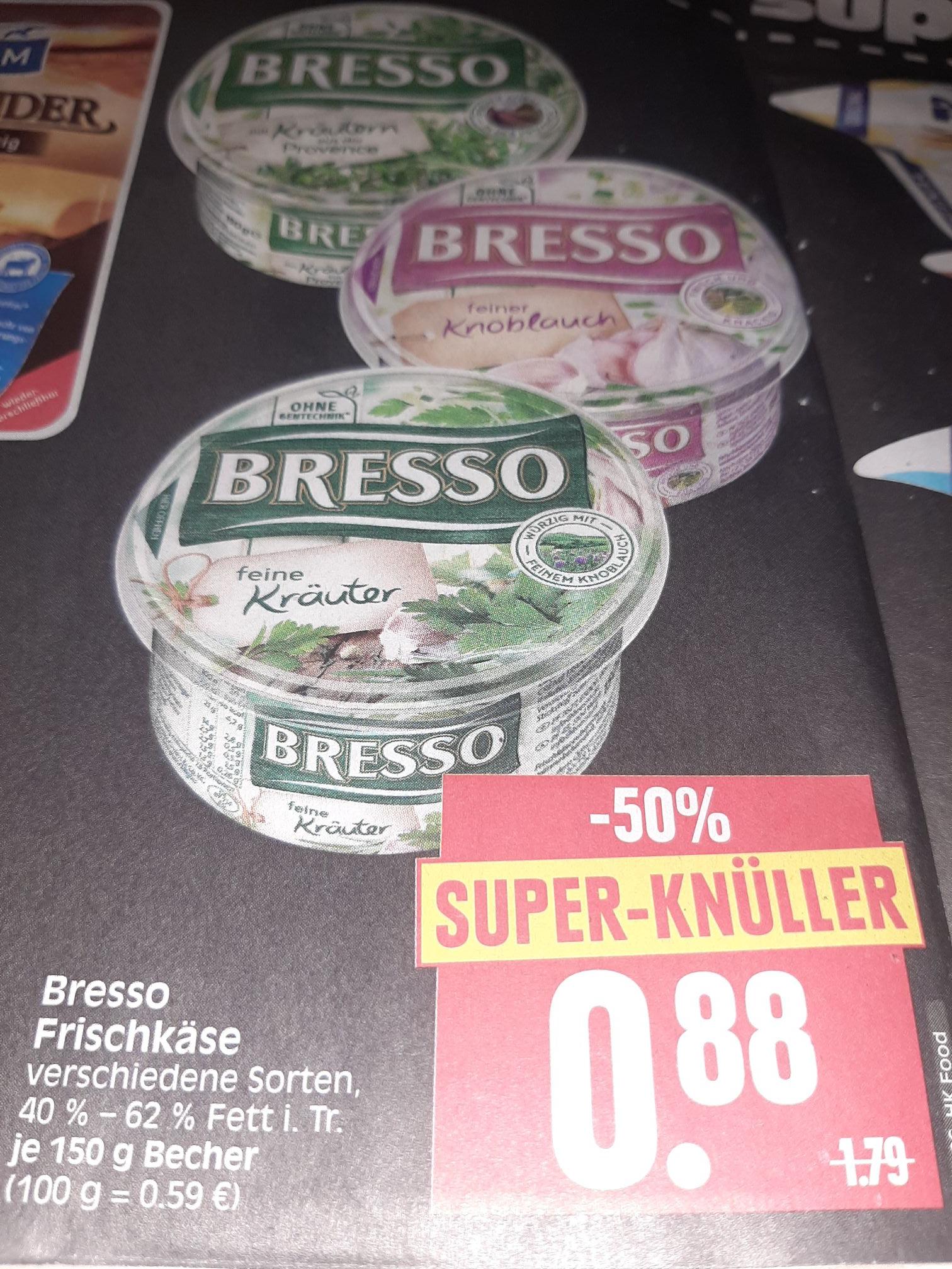 Edeka Center Herkules in Hessen Bresso Frischkäse Dank Coupon nur 0.38€