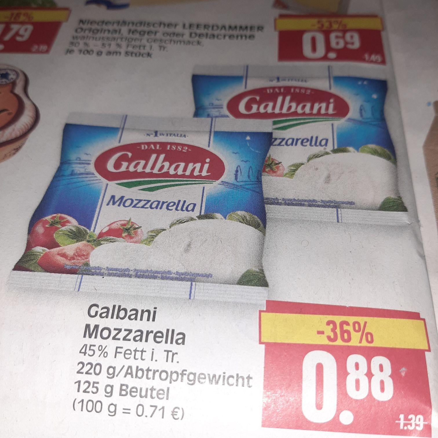 Edeka Center Herkules in Hessen Galbani Mozzarella Dank Coupon nur 0.38€.