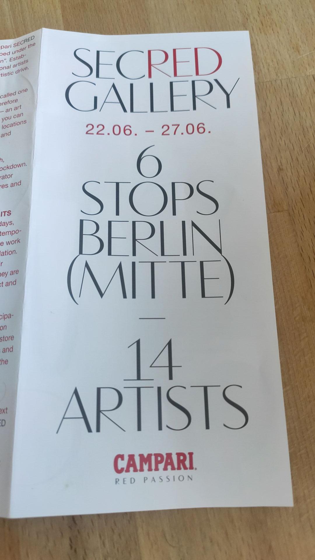 [Lokal Berlin] Campari Secred Gallery - Free drinks, Gläser, goodies