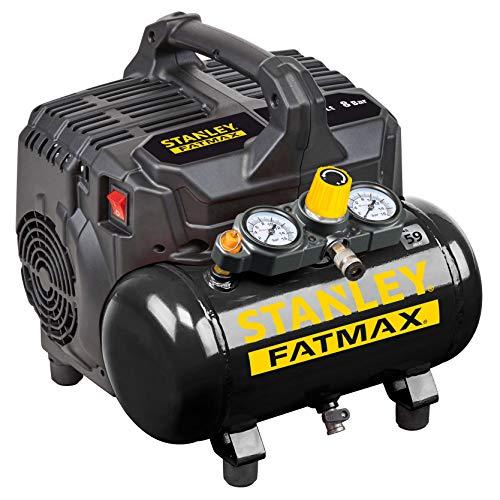 STANLEY FATMAX 101/8/6SI DST 101/8/6 Silent Air Kompressor, 100 W, 240 V