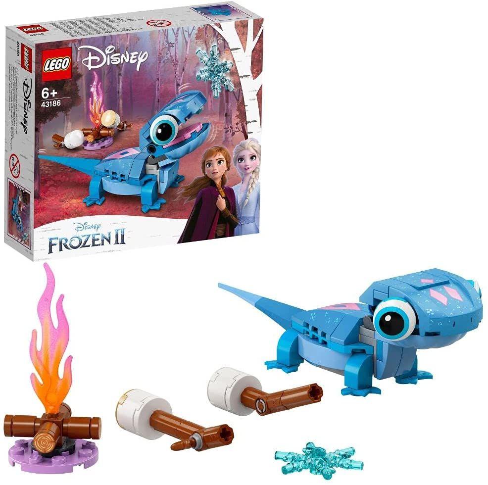 LEGO 43186 Disney Princess Frozen 2 Salamander Bruni, Set mit baubarem Charakter, Die Eiskönigin 2 [Prime]