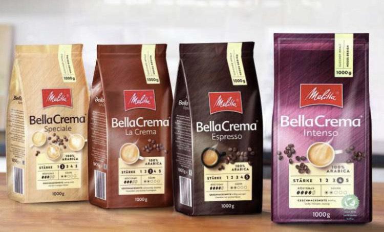 [EDEKA Rhein-Ruhr] Melitta Kaffeebohnen 1kg Bella Crema diverse Sorten 1€ Sparen