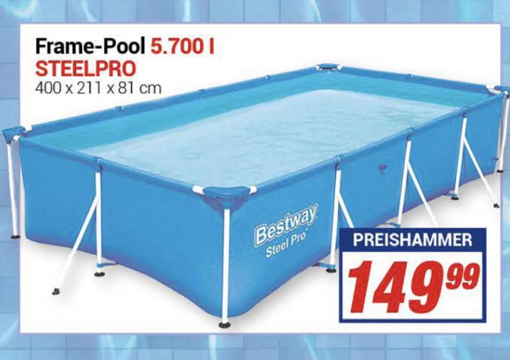 Steel Pro™ Frame Pool, 400 x 211 x 81 cm, ohne Pumpe [Centershop, Lokal nrw,Rlp,he]