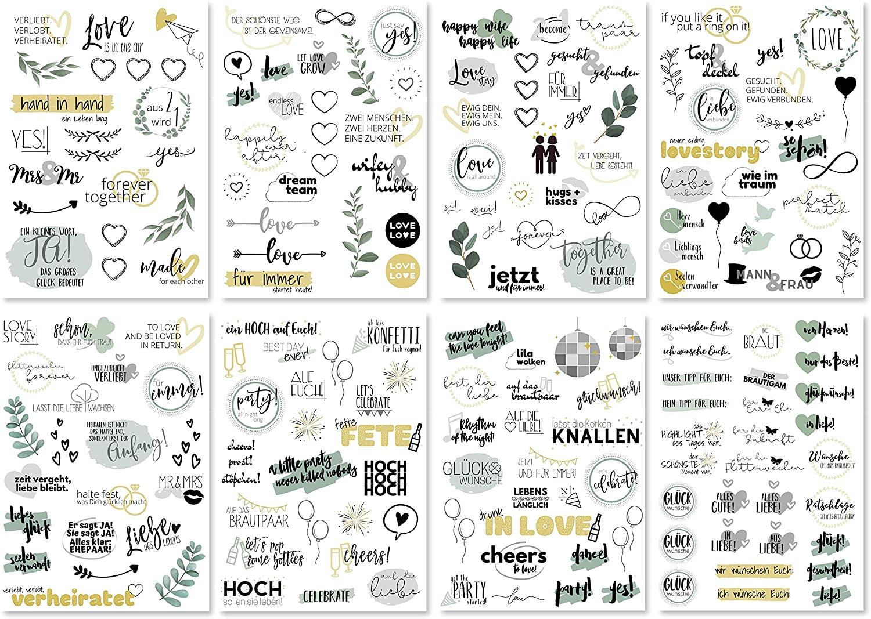 Sticker Hochzeit Gästebuch (8 Bögen) (Prime)