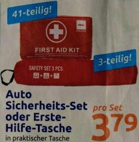 First Aid Kit DIN 13164 Erste-Hilfe-Tasche 41-tlg. Verbandkasten oder Auto Sicherheitsset
