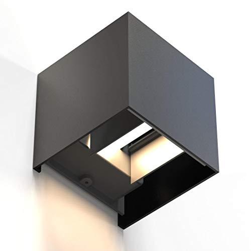 Hama LED Wandleuchte für innen und außen (dimmbare Smart Home Lampe für Alexa und Google Assistant, u. per App