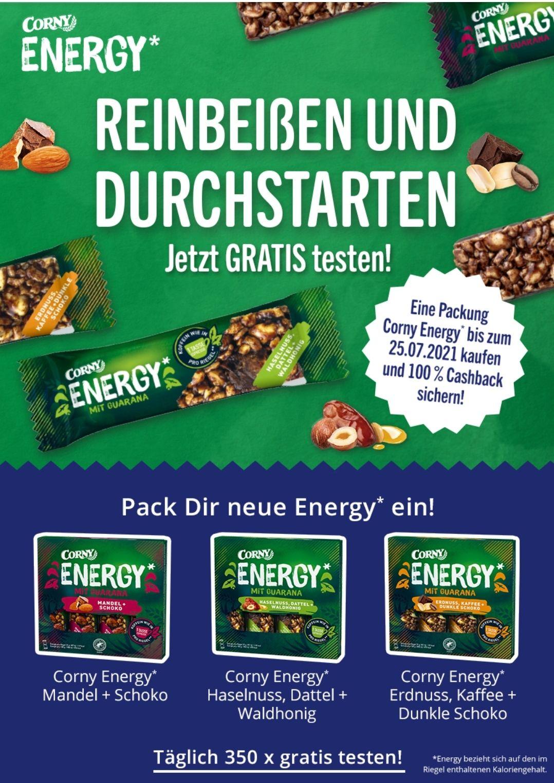 [GZG] [kaufDa App] 1 Packung Corny Energy Gratis Testen (350 Einlösungen pro Tag)