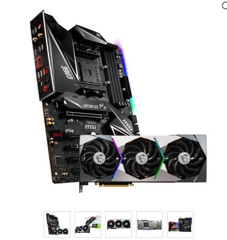 MSI GeForce RTX 3070 SUPRIM X 8G Grafikkarte + MSI MPG X570 GAMING EDGE