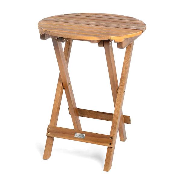 Outdoor-Beistelltisch aus Akazienholz, klappbar, handgefertigt, 40x50cm / 14,99€ Abholung / Versand +4,95€