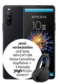 Telekom Netz: Sony Xperia 10 III 5G 128 GB alle Farben + Sony WH-CH710N im Congstar Allnet Flat 10GB LTE für 22€/Monat, 4,99€ einmalig