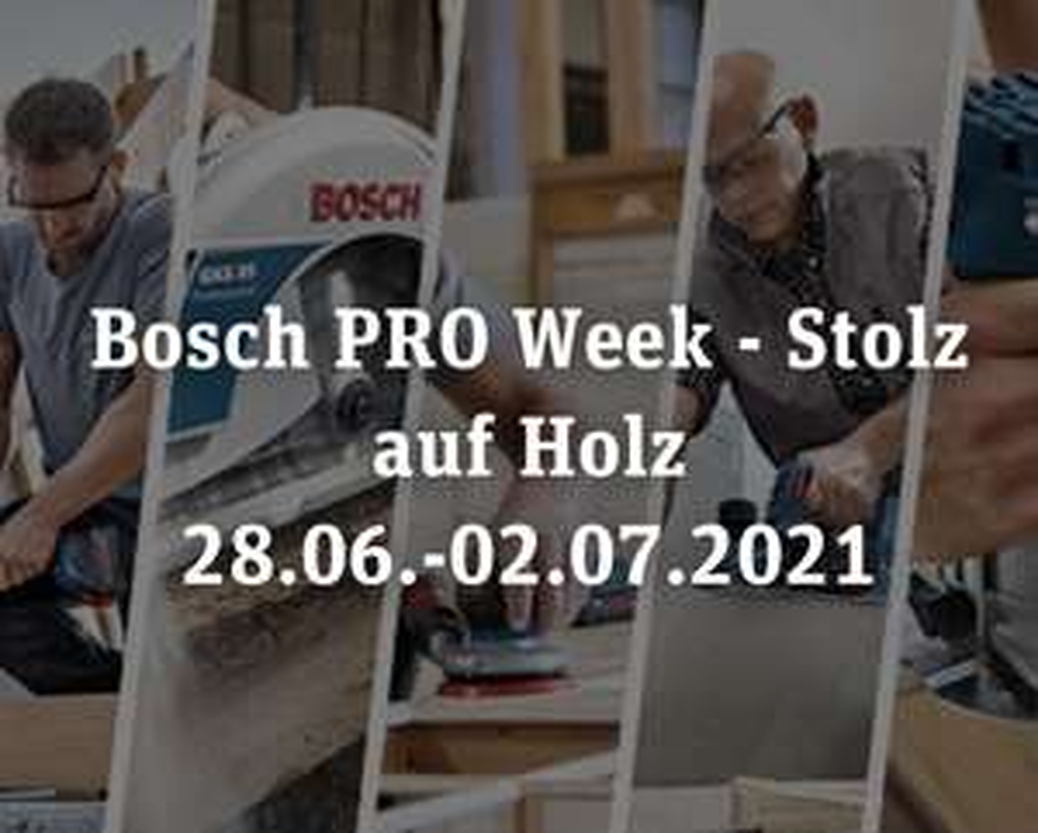 Bosch Pro Woche - 20% Rabatt auf ausgewählte Akku-Schrauber