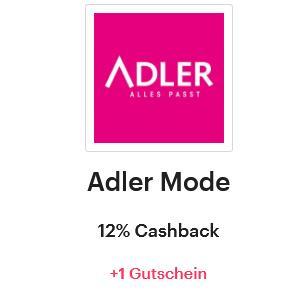 [Shoop] Adler Mode 12% Cashback + 30% Rabatt Gutschein auf alles (ohne MBW)