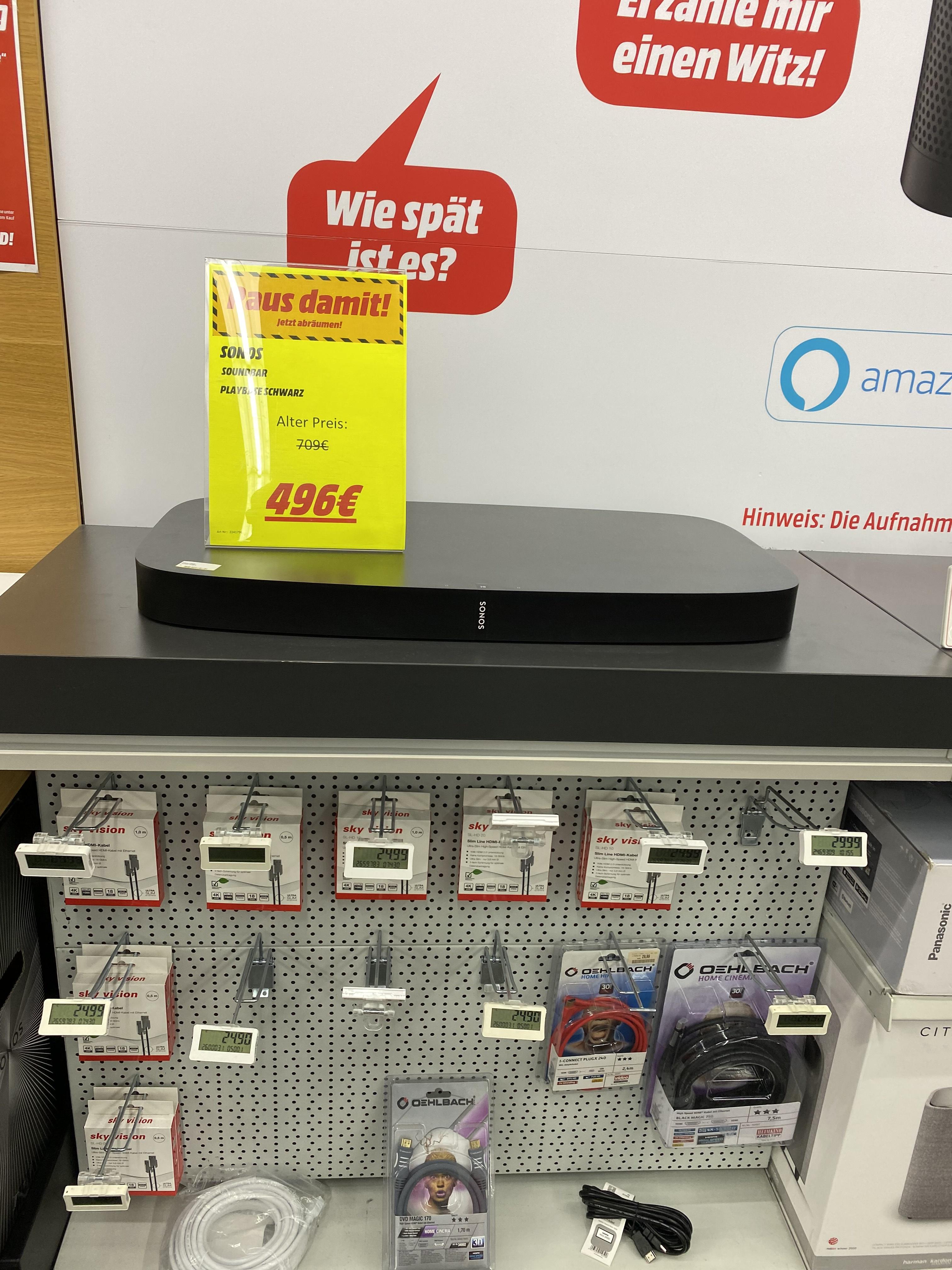 *Lokal* Sonos Playbase Abverkauf Mediamarkt Sindelfingen