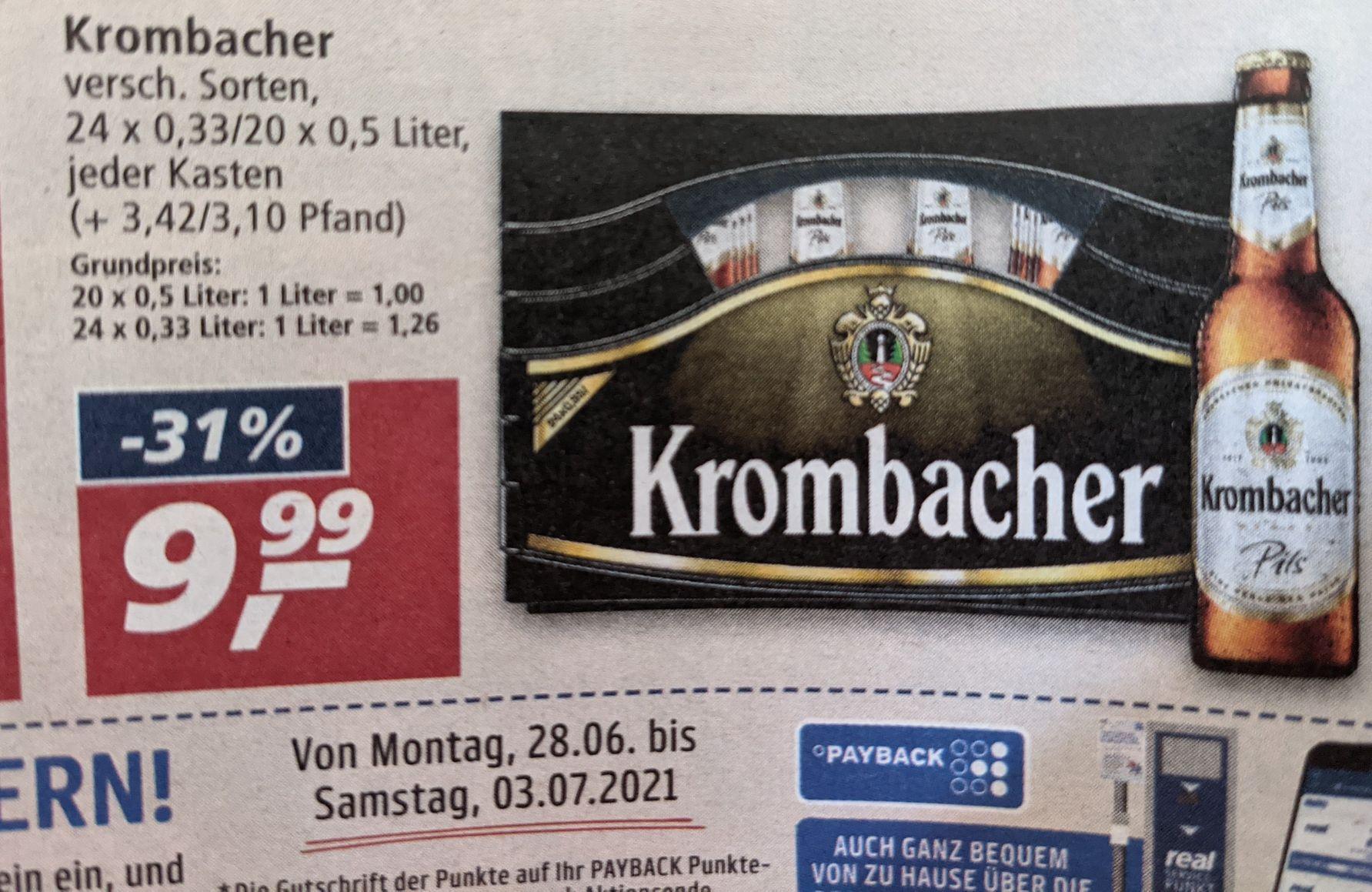 Kiste Bier fürn 10er (Real)
