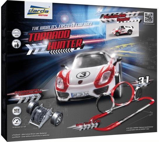 Darda Rennbahn, Tornado Hunter, DARDA Autos bis zu 960 km/h schnell, ohne Strom & Batterien