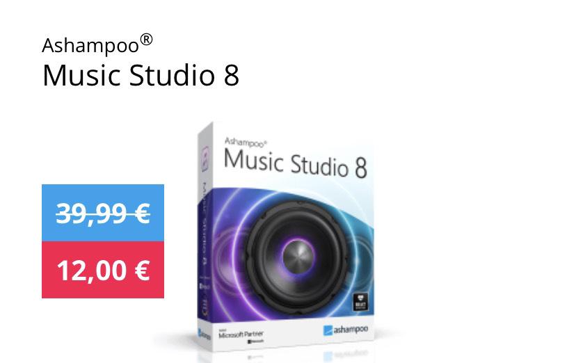 Ashampoo Music Studio 8 für 12€