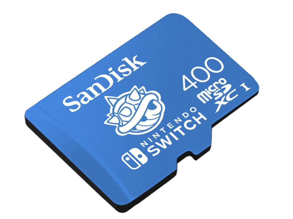 SanDisk microSDXC™, Speicherkarte für Nintendo Switch, 400 GB, Blau ( Übertragungsraten von bis zu 100 MB/s )