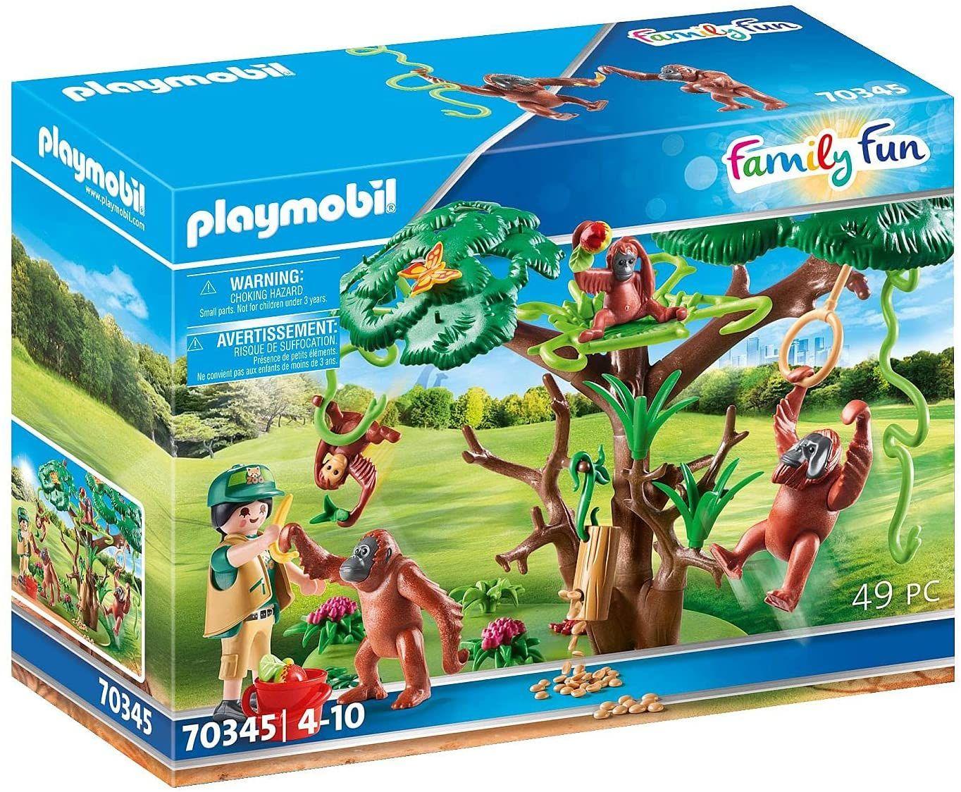[Prime] PLAYMOBIL Family Fun 70345 Orang Utans im Baum, Ab 4 Jahren, 49 Teile