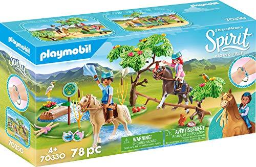 [Prime] Playmobil 70330 DreamWorks Spirit Herausforderung am Fluss mit PRU und Chica Linda, Ab 4 Jahren