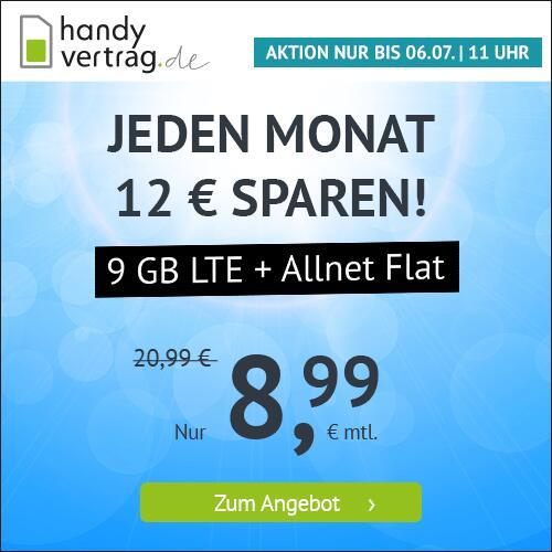 Drillisch KW26 Angebote: z.B. 9GB LTE Handyvertrag.de Tarif 8,99€ oder 5GB LTE für 5,99€ [Telefonica]