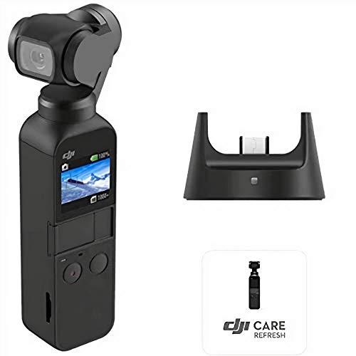( Amazon ) DJI Osmo Pocket Prime Combo - 3-Achsen Gimbal Stabilisator mit Zubehörkit inkl. Funkmodul und Care Refresh, integrierte Kamera