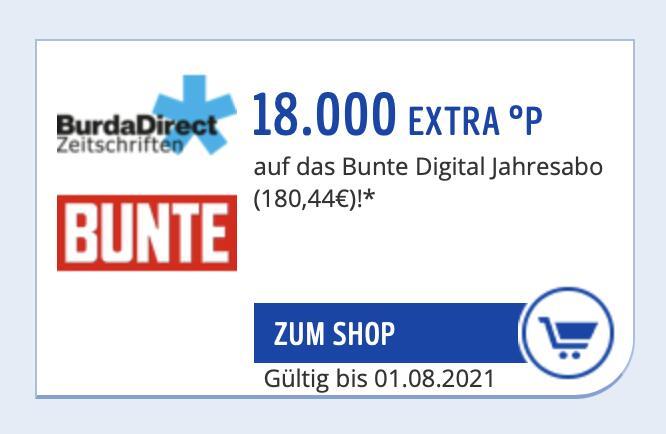Payback - 18.000 Extra Punkte auf ein Bunte Digital Jahresabo