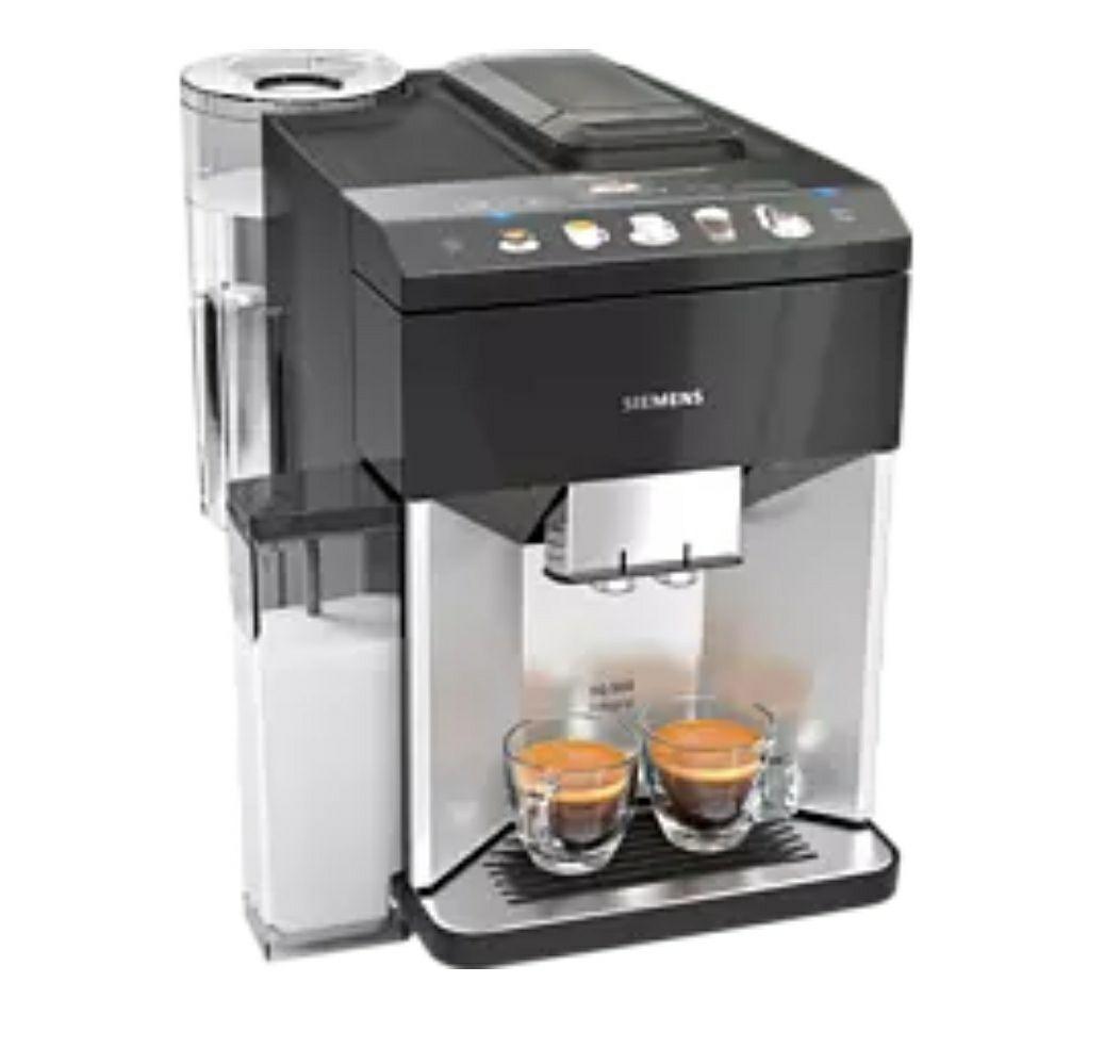 SIEMENS TQ503D01 EQ.500 integral Kaffeevollautomat Silb./Schw.