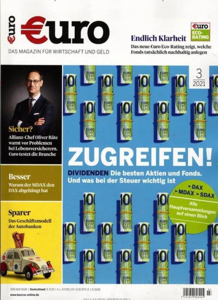 EURO Finanzmagazin für 101,80€ mit einem 100€ Bestchoice Universalgutschein bei Hobby & Freizeit im Jahresabo