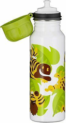 2x alfi Edelstahl Trinkflasche 600ml (Jungle weiß, absolut dicht, spülmaschinenfest, BPA-Frei)