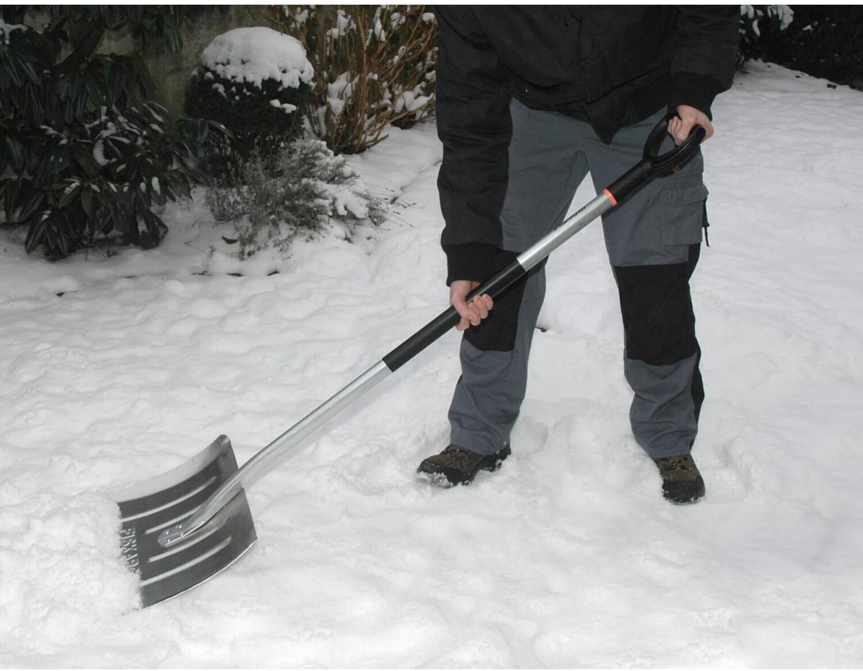 Fiskars, Schneeräumer Aluminium, Schneeschieber, Schneeschaufel