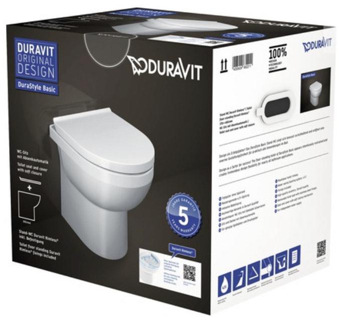 [Hornbach TPG] DURAVIT spülrandloses Stand-WC-Set DuraStyle weiß mit WC-Sitz