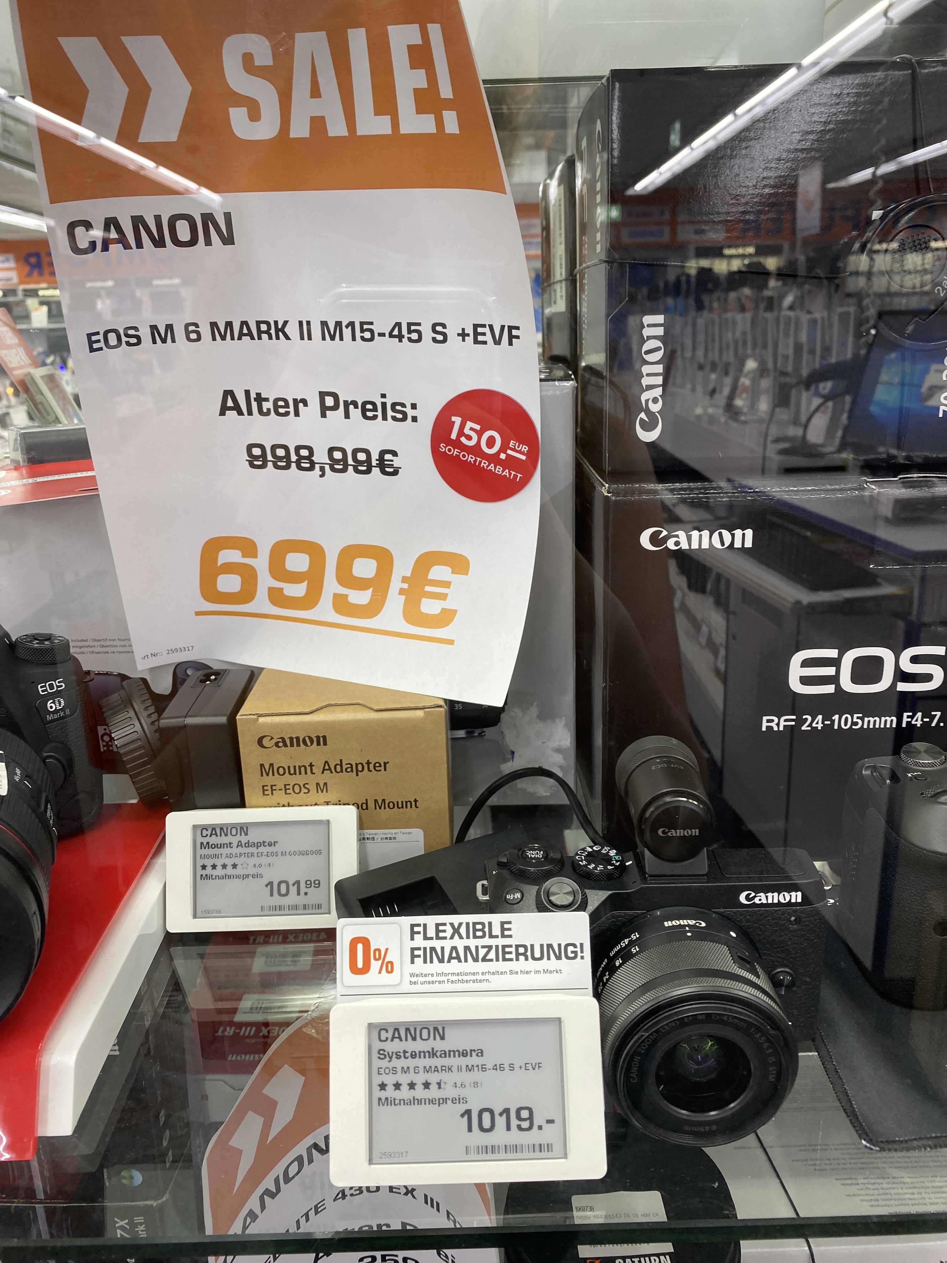Canon M6 Mark II M15-45