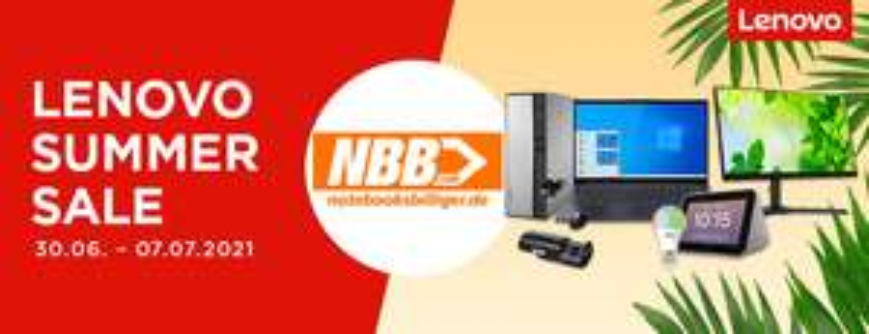 NBB Lenovo Summer Sale: Diverse Laptops, Convertibles, PCs, Monitore, Smart Home-Produkte & Zubehör